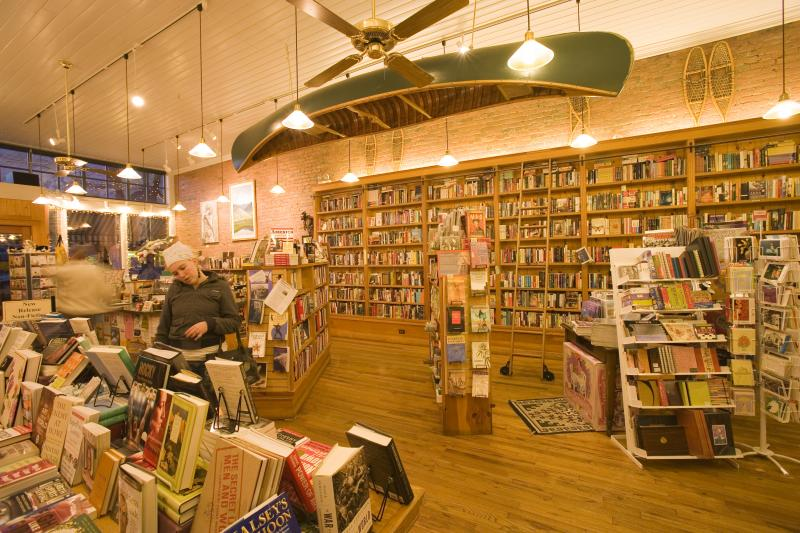 Inside View of Maria's Bookshop